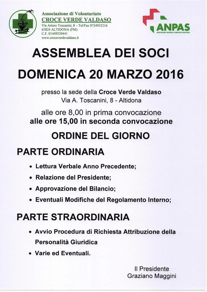 Assemblea Dei Soci 2016